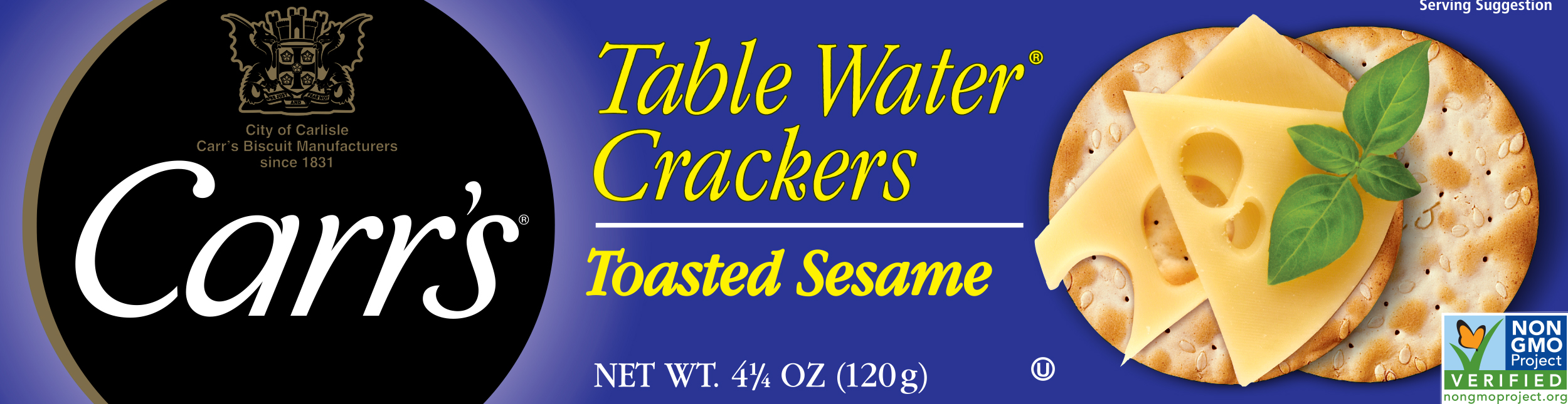 Carr's® Table Water® Crackers Baked with Toasted Sesame Seeds
