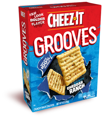 Cheez-It Grooves® Zesty Cheddar Ranch
