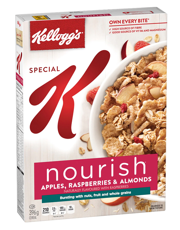 Special K* Nourish Apples Raspberries & Almonds Cereal